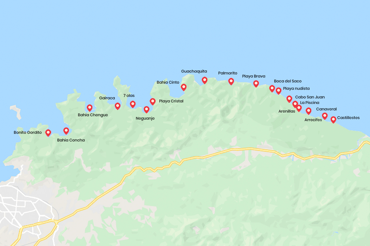 Tayrona park beaches map