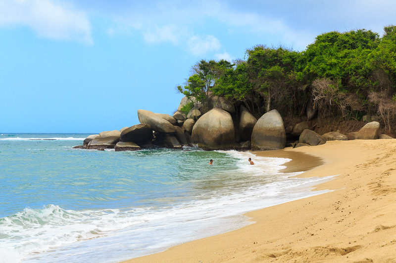 nudist beach tayrona park colombia
