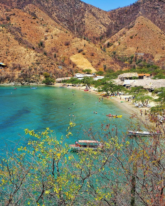 beaches colombia taganga @cabier